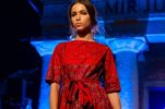 First Dress in Croatia Inspired by Traditional Šestine Scarf Presented by Hunić Design Sisters