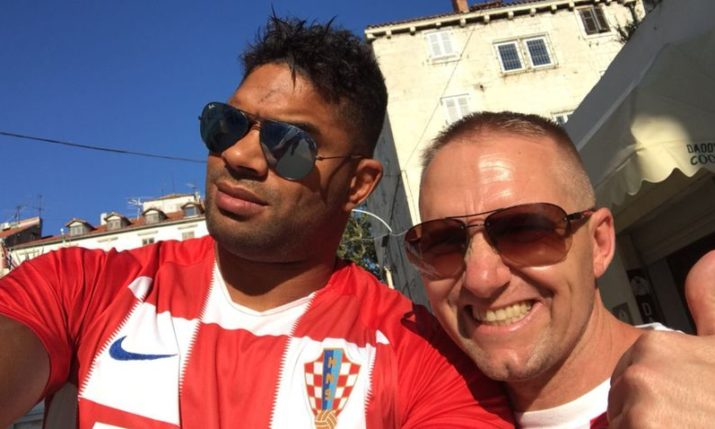 UFC star Alistair Overeem in Zagreb this week