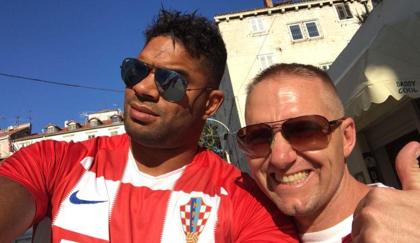 UFC star Alistair Overeem in Zagreb this week