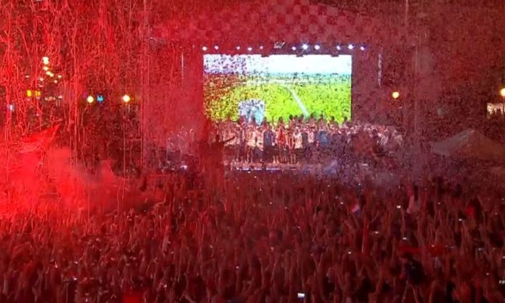 LIVE: Croatian World Cup Team Homecoming Party in Zagreb