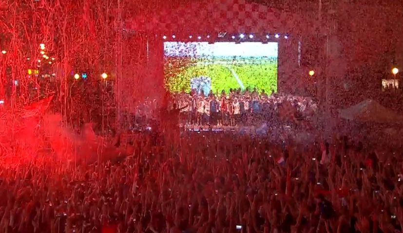 Half a Million People Welcome Croatian World Cup Team Home in Zagreb