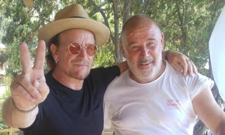 U2 Frontman Bono Holidaying on the Croatian Coast