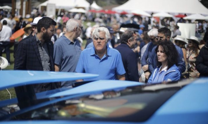 PHOTOS: Jay Leno Checks Out the Rimac C_Two Electric Supercar in California