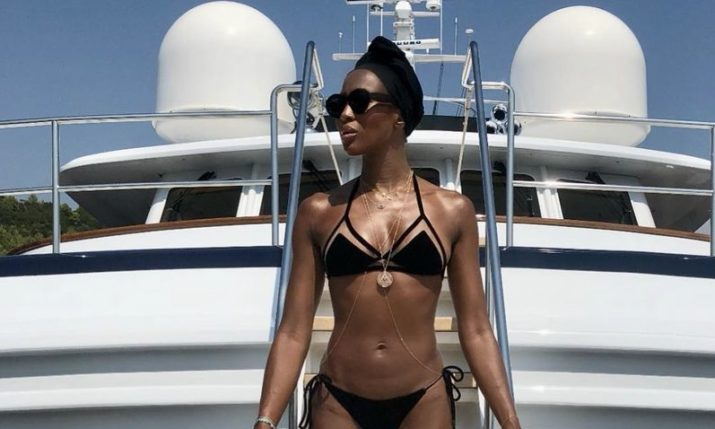 Naomi Campbell Spotted Holidaying on Croatian Coast