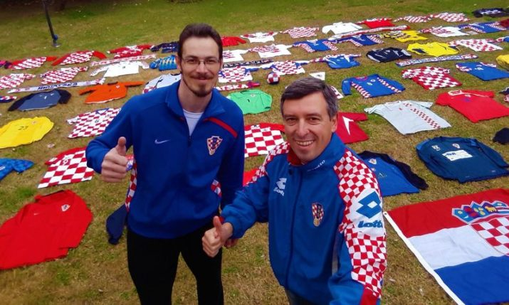 Meet the friends in Argentina with the biggest collection of Croatian football shirts from around the world