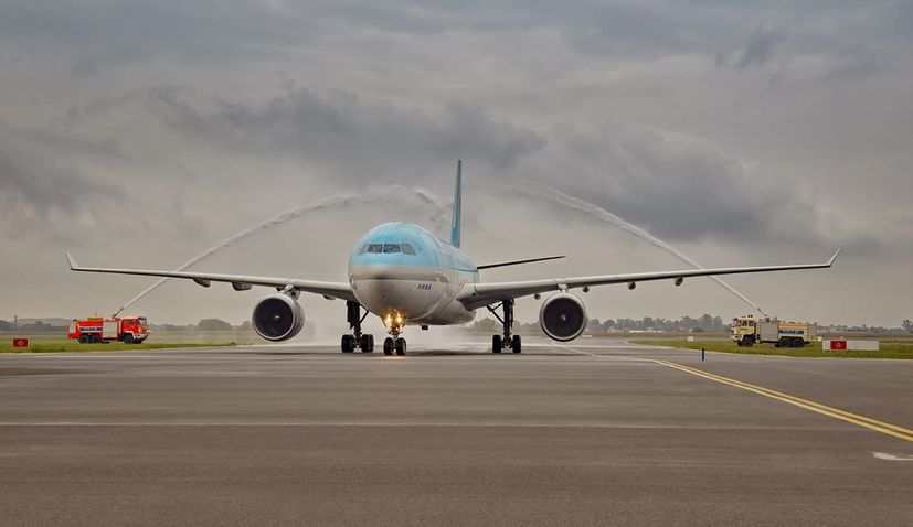 PHOTOS: First Korean Air Flight Welcomed in Zagreb