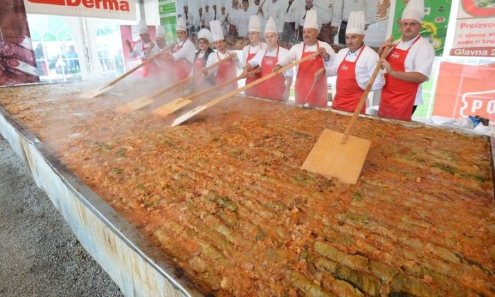 World's Longest Sarma Cooked at Zeljarijada Festival in Croatia on Saturday