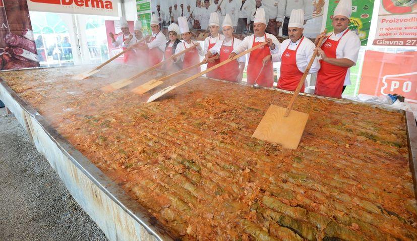 World's Longest Sarma Cooked at Zeljarijada Festival in Croatia on Saturday