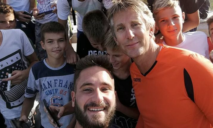 Dutch & Manchester United Legend Edwin van der Sar Plays in Split