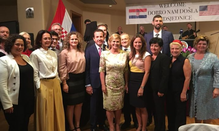 PHOTOS: President of Croatia Meets with New York's Croatian Community