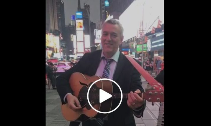 VIDEO: Croatian music live on New York's Times Square