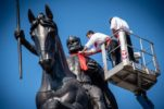 Cravat tied on 50 Zagreb monuments as Croatian invention celebrated