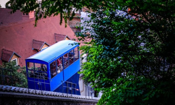 Famous Zagreb funicular celebrating 128th birthday