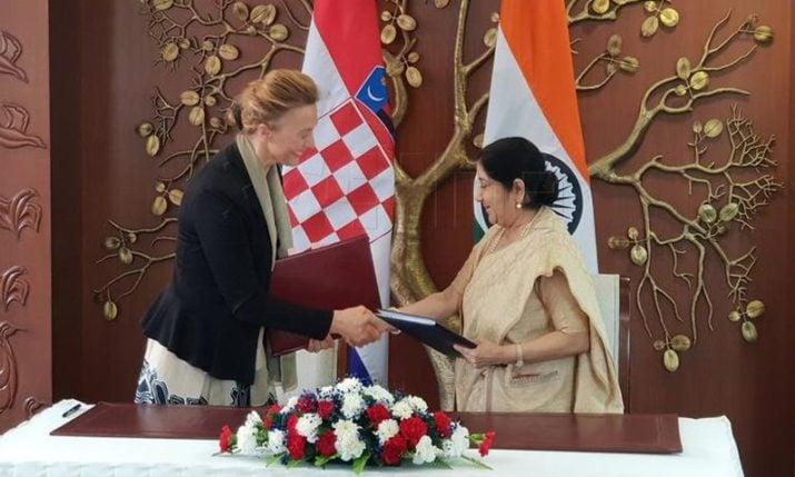 Croatian FM visits India