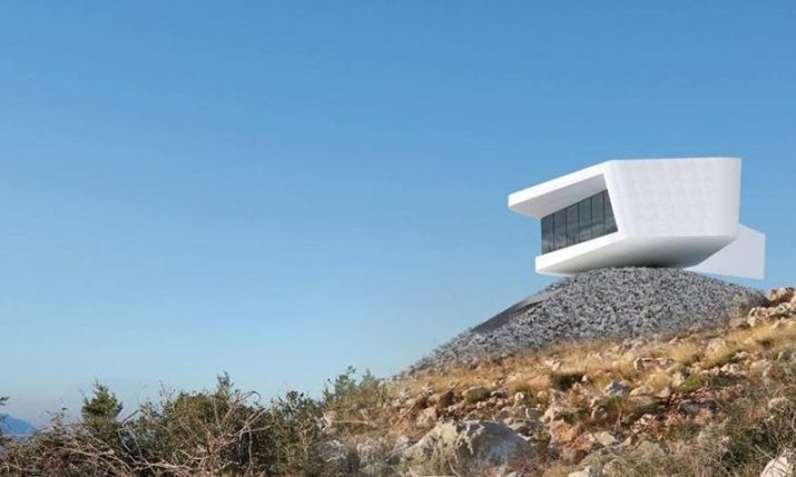Croatian architects up for world award for unique Dalmatian 'seagull' home
