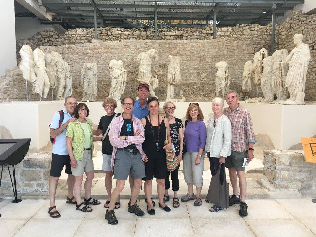Above Nina Toutant Third From Left With Friends Boston And New Hampshire Hosted By Backdoor Tours Croatia