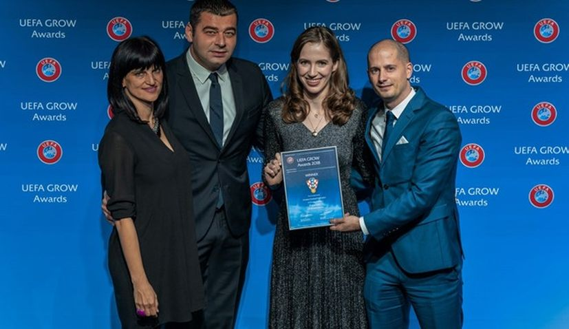 Croatian Football Federation wins prestigious UEFA GROW award in Riga