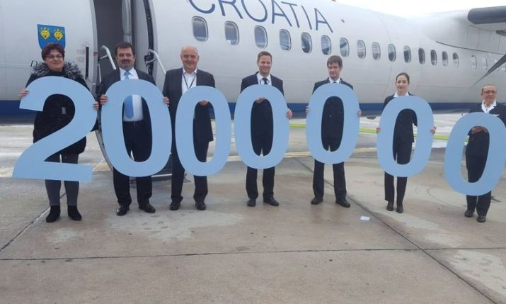 Croatia Airlines welcomes 2 millionth passenger in 2018 in record time