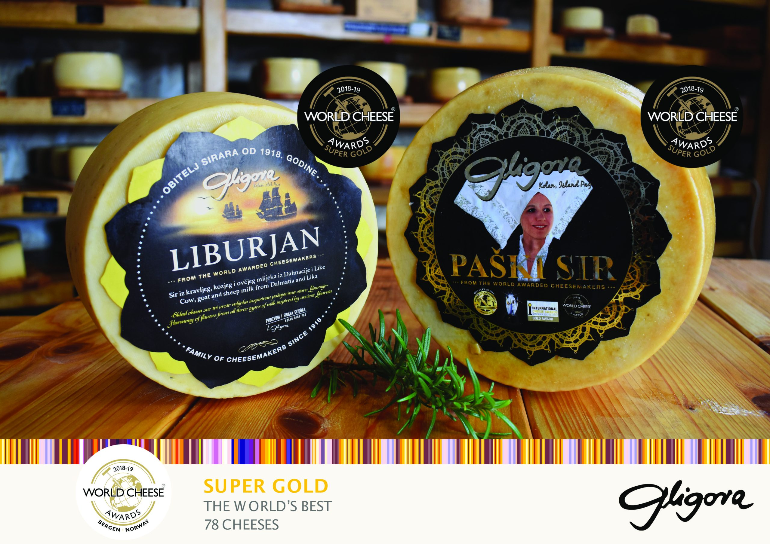 two croatian cheeses win super gold award at 2018 world cheese rh croatiaweek com super gold world cheese awards 2017