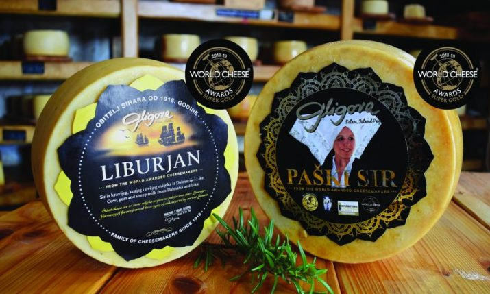 Two Croatian cheeses win Super Gold award at 2018 World Cheese Awards