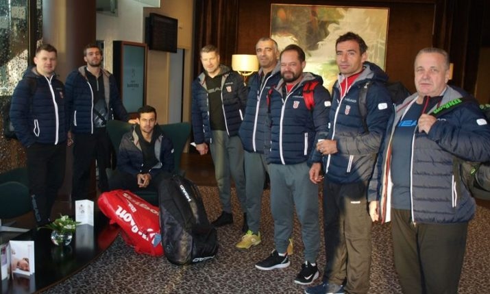Croatia arrives in France ahead of Davis Cup final