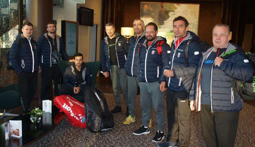 Croatia arrives in France ahead of Davis Cup final