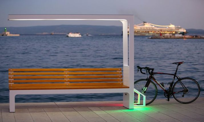 Croatian smart bench company unveil a new product – smart cycling point