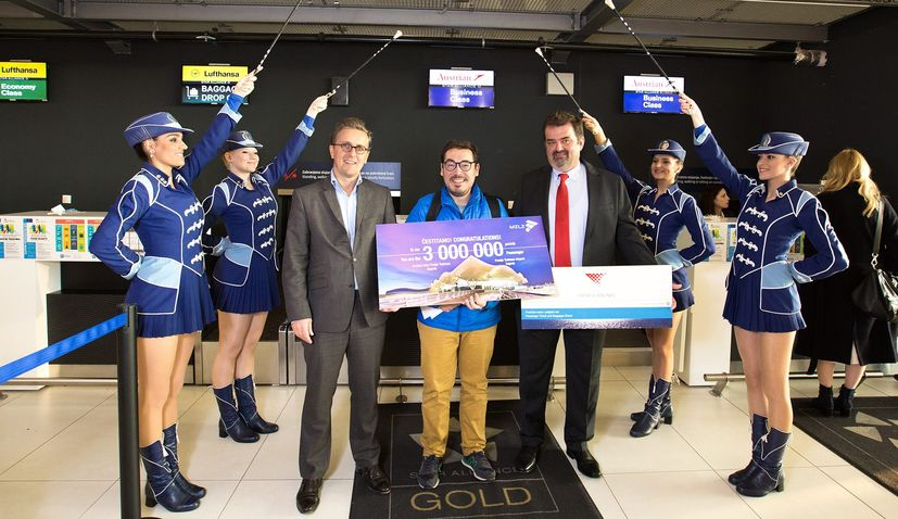 PHOTOS: Zagreb Airport welcomes 3 millionth passengerin record time
