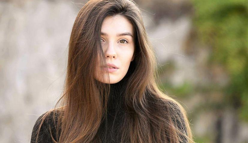 Croatian model Marta Malenica in World Top Model contest in Milan