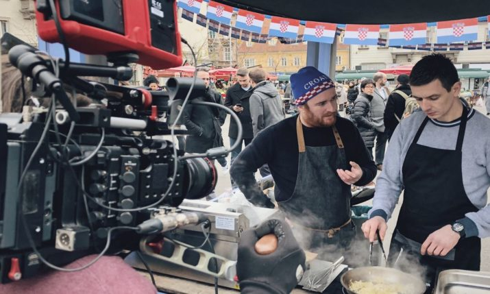 UK chef Jack Stein shoots his show 'Inside the Box' in Zagreb