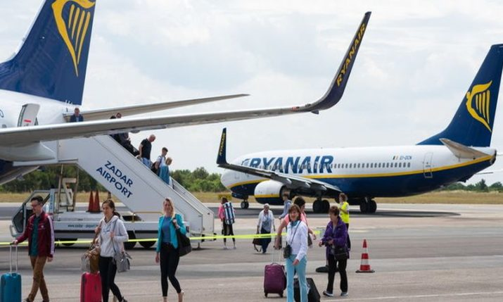 Ryanair announces three new routes to Zadar