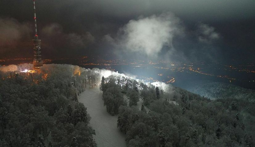 night skiing on sljeme