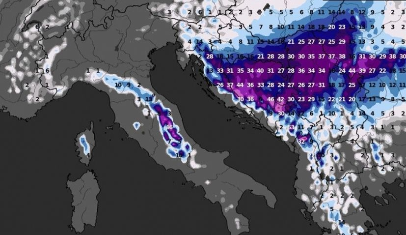 Heavy snowfall on its way for parts of Croatia