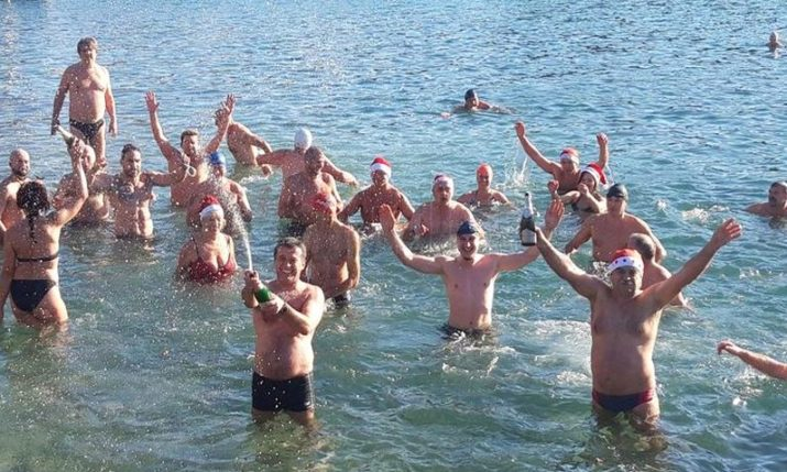 Traditional New Year's Day swim in Croatian coastal cities