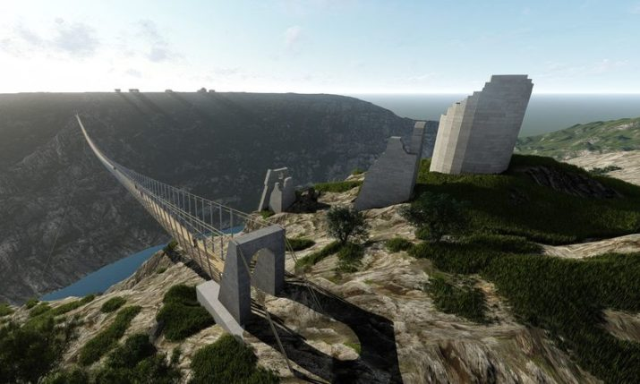 462-metre pedestrian suspension bridge over the Krka River set to be popular tourist attraction