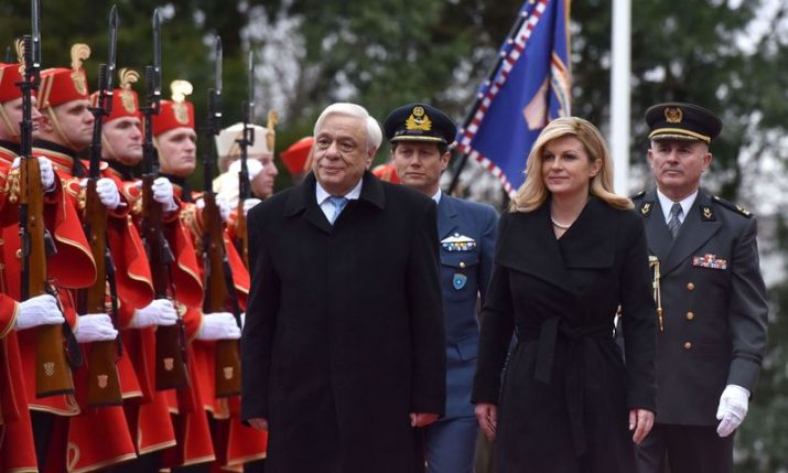 Croatian & Greek presidents in Zagreb: 'Greece will always be on Croatia's side'
