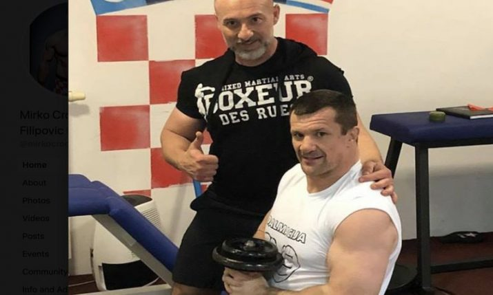 PHOTO: Cro Cop returns to the gym for first time after stroke