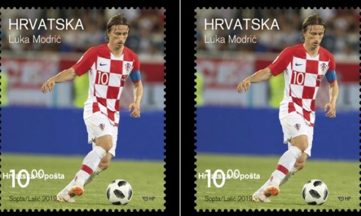 Luka Modrić honoured with special postage stamp