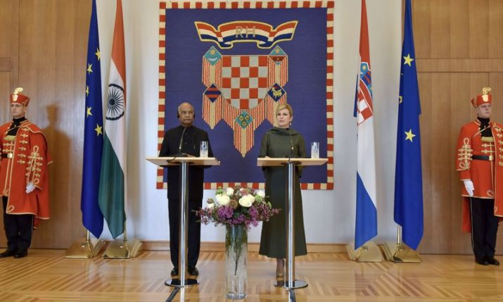 President of India on State Visit to Croatia