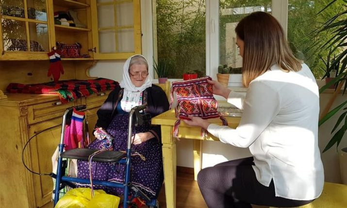 98-year-old Croatian woman opens shop selling her own handmade products