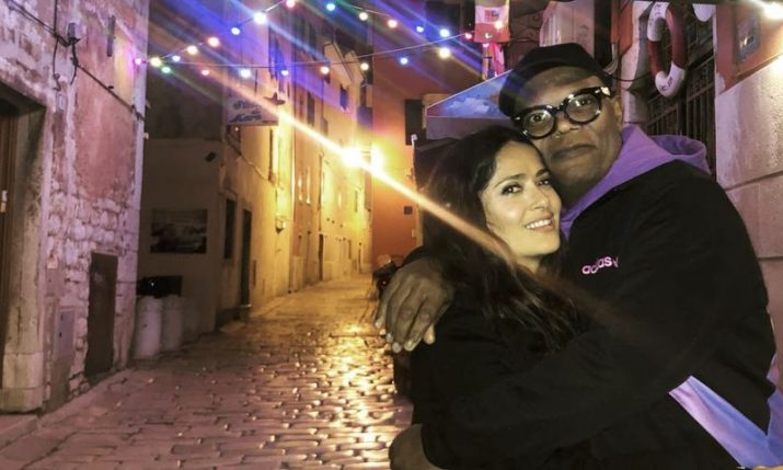 Salma Hayek arrives in Croatia: 'a new magical location'