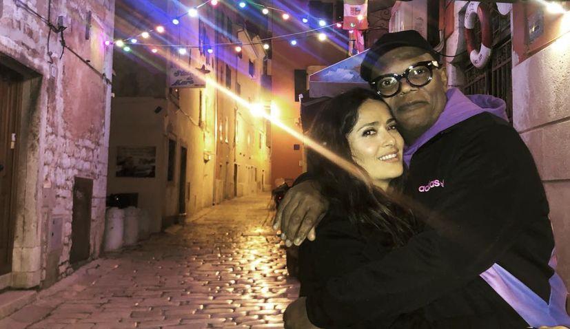 Salma Hayek arrives in Croatia: 'a new magical location'