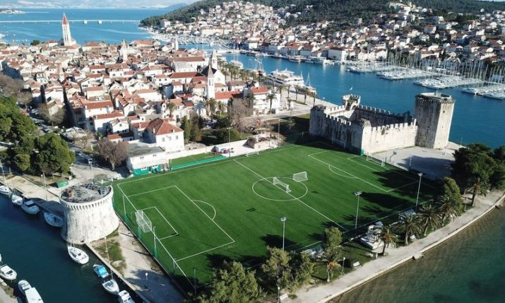 Opening of impressive new football pitch in Trogir