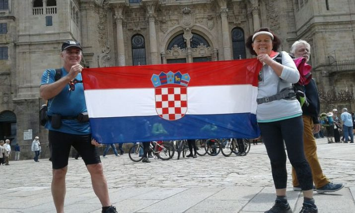 Expat couple from Korčula island walk the Camino de Portuguese
