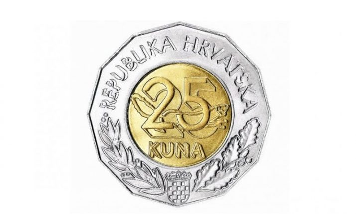 Special coin to be issued to mark 25th anniversary of the  kuna as currency in Croatia