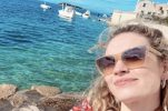 PHOTOS: Mamma Mia 2 star back on the island of Vis