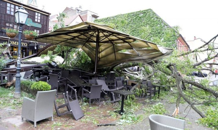 VIDEO: Hurricane-force winds batter the Croatian capital