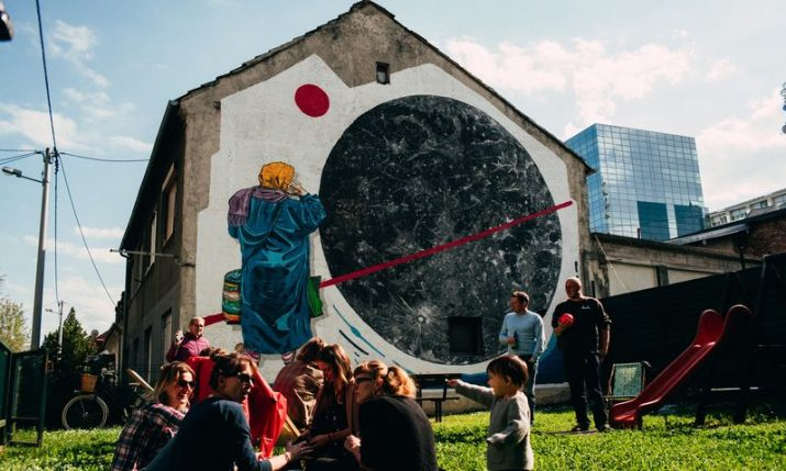 Impressive mural brings small Zagreb park back to life