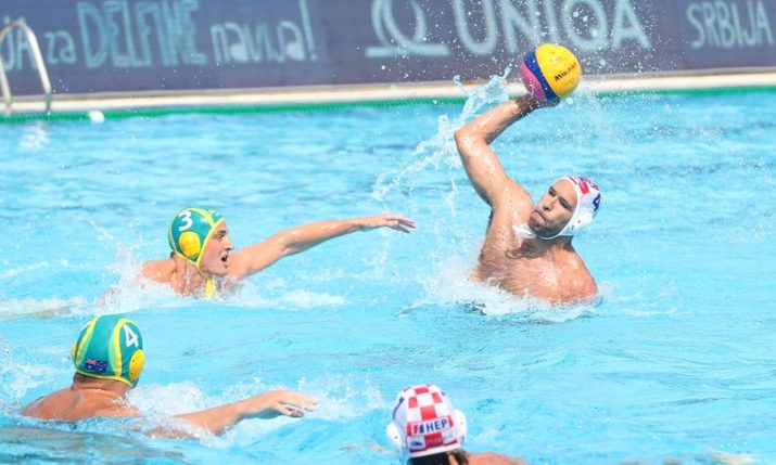 Croatia beats Australia to reach water polo world league quarterfinal
