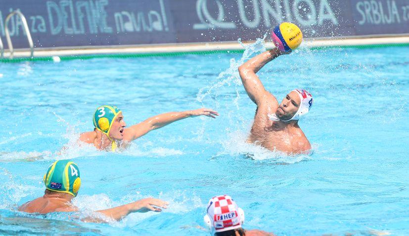 Croatia beats Australia to reach water polo world league quarterfinal